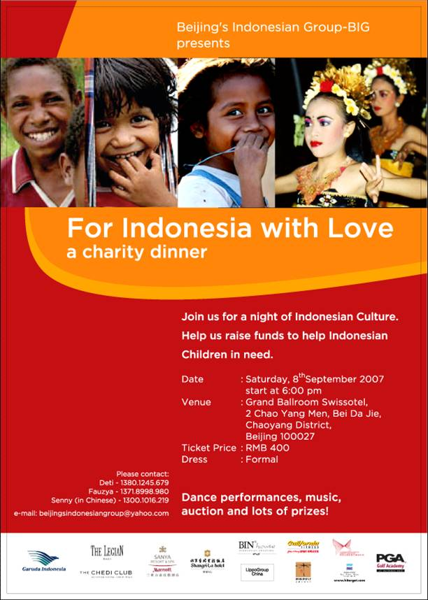 Beijing Charity Drive To Help Indonesian Children