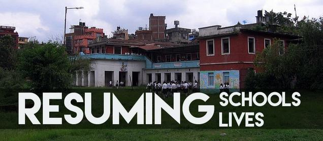 resuming school - resuming lives in Nepal